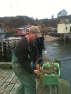 Off the Hook CSF's Orlie Dixon pulling his first lobster haul