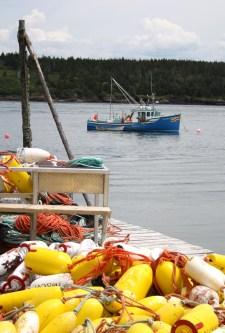 Wharf buoys, Tiverton, Nova Scotia.