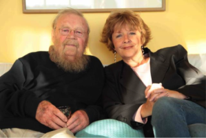 Mary Gorman, shown here with writer Farley Mowat, has been a tireless defender of the Gulf of St. Lawrence for a long time. But the threat of new initiatives by Newfoundland and Quebec have her worried. Photo SOSS
