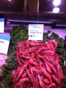 Fresh shrimp, fair price
