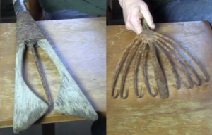 Summer and winter eel spears. Source: UINR