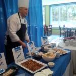 Seafood products on display at Dalhousie's sustainable seafood kick-off event